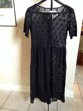 Vintage 1990's Black Lace Dress by CitiCulture Los Angeles  Size Small