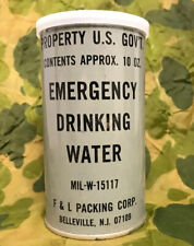 Vintage Us Government Emergency Drinking Water Unopened