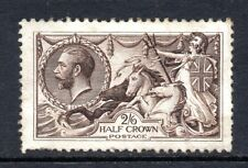 More details for gb kgv 1913 sg399 2/6d deep sepia brown waterlow seahorse mint hinged cat £400
