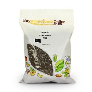 Organic Chia Seeds 1kg   Buy Whole Foods Online   Free UK Mainland P&P