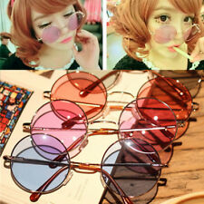 Colorful Women Round Glasses Lens Sunglasses Eyewear Plastic Frame Glasses Retro