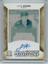 17/18 The Cup Luke Kunin Rookie Masterpieces Cyan Plate Auto RC #'ed 1/1