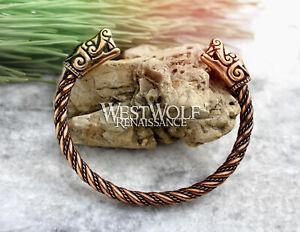 Bronze Viking Dragon Beast Bracelet/Torc/Torque --- Norse/Wolf/Jewelry/Iceland
