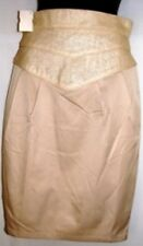 C LUCE BEIGE KNEE LENGHT PENCIL SKIRT SIZE SM 4-6, MED 8-10, L 12-14