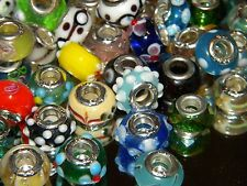 NEW Special 30/pc MIXED GLASS charm,  Murano, Lampwork European Beads LOT