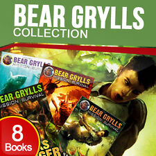 Bear Grylls Mission Survival Collection 8 Books Set Pack Gold of the Gods NEW PB