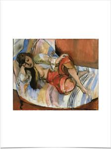 HENRI MATISSE ODALISQUE LIMITED EDITION BIG BORDERS ART PRINT 18X24 red female