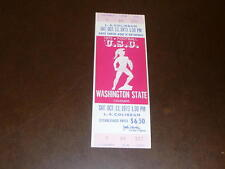 1973 WASHINGTON STATE AT USC COLLEGE FOOTBALL FULL TICKET EX-MINT