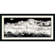 "Ansel Adams,"" Mount McKinley Range, Denali National Park"" Framed Art , 40x22"