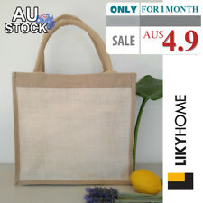 AU Jute Eco Shoulder Carry Bag Natural Color Recycle Shopping Bag Tote Bags New