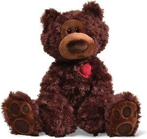 GUND Valentine Philbin Bear Plush with a Heart