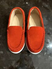 NEW Janie & Jack Red Driving Shoes Moccasins Loafers Suede Size 9 NWOT Toddler
