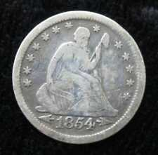 1854 Seated Liberty Quarter * 90% Silver * Nice Liberty * Great for a Book