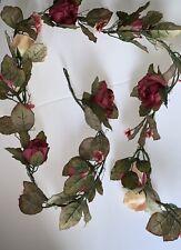 Rose Garland, Six Feet Long.  Polyester Silk Screen.