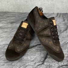 Louis Vuitton Tennis Shoes Brown Suede Denim Monogram 7.5 LV - 8.5 US - 41.5 EUR