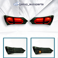 Smoked LED Taillights Rear Lamp For Toyota Corolla ZRE172 Sedan 2014-2017 Pair