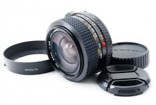 Minolta MD 24mm F/2.8 MF Wide Angle Prime Lens w/hood  from Japan [260]