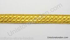 Braid Gold mylar BNS 13mm Rank marking Lace Trim R230