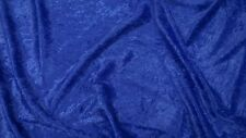 Royal Blue crushed velvet/velour fabric - 1 full metre