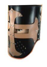 Ritterhelm aus Leder, Ritterrüstung; Helm Larp, Templer-Helm