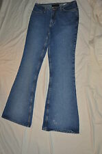 BABY PHAT JEANS CO CUTE HIPPI MEDIUM BLUE BELL BOTTOM JEANS JR WOMENS 9 EUC USA