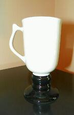 """Vtg Hall China """"Classic Black & White"""" Irish Coffee/Latte Cup/Mug #1272"""