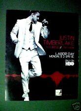 Justin Timerlake Rock~Pop~Roll Album Music Memorabilia Hbo Promo Tv Art Print Ad