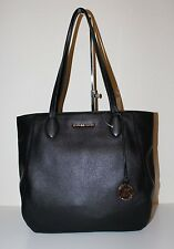 NWT Authentic MICHAEL Michael Kors Ani Leather Top Zip Tote Shoulder Bag BLACK