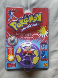RARE Pokemon Hitmonchan Collector's Marble Case + 8 Marbles - NEW SEALED
