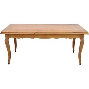 Vintage French Provincial Style Cherry Extending Draw-leaf Dining Table