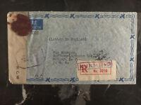 1945 Kunming China Censored Cover to Hoffman laroche Nutley NJ  USA Airmail
