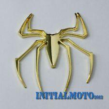 3D Metal Car Sedan Spider Golden Badge Sticker Logo Emblem Marker Cover Trim Lid
