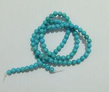 92pz/filo perline pietre in turchese naturale 4mm colore verde acqua bijoux
