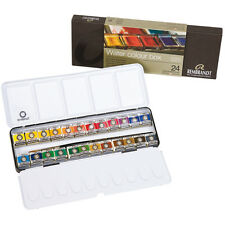 Rembrandt Professional Artist Watercolour 24 Half Pan Metal Box Set