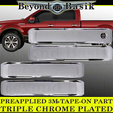 2015 2016 2017 2018 FORD F150 4D Crew Chrome Door Handle COVERS No Smart Keyhole
