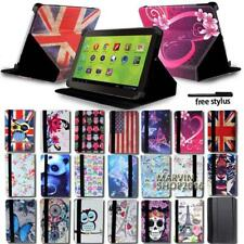 "For 7"" 8"" 10.1"" Zeki Tablet - FOLIO LEATHER STAND CASE COVER + Stylus"
