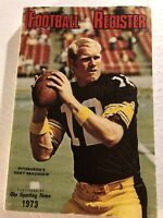 1973 Football Register PITTSBURGH Steelers TERRY BRADSHAW Miami Dolphins 17-0