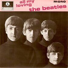 THE BEATLES All My Loving EP Vinyl Record Single 7 Inch Parlophone Solid Centre