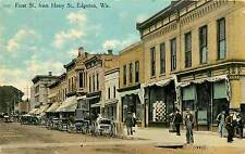 Wisconsin, WI, Edgerton, Front ST from Henry ST Early Postcard