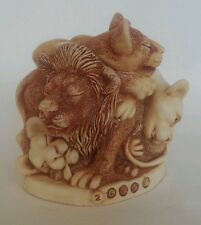 Harmony Kingdom Faux Paw Pride of Lions Lioness Treasure Jest Box Figurine
