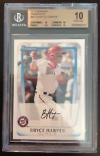 Bryce Harper Nationals 2011 Bowman Prospects BP1A Rookie Card rC BGS 10 Pristine