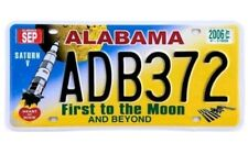 Alabama Licence Number Plate - American USA Replica Sign - First to the Moon