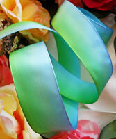 """Blue to Green Ombre Ribbons 5 Yards 1 1/2"""" Wide Wired Easter Bows Wedding Crafts"""