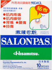 4 X Hisamitsu Salonpas 10 Pain Relieving Patches / Plasters Made in Japan Aussie