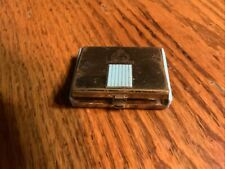 Vintage Coty Powder Compact Goldtone With Turquoise Plastic