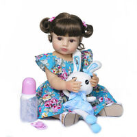 "22"" Reborn Toddler Girl Doll Soft Full Body Silicone Girl Doll Soft Real Touch"