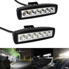 "6""inch 18W Spot LED Work Light Car Truck Boat Driving Fog Offroad SUV 4WD Bar"
