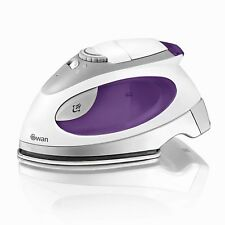 Swan SI3070N Travel Iron with Pouch Variable Temperature Control 900W Purple