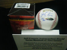 Jeff Francis Upper Deck COA Limited Edition signed 2007 World Series baseball