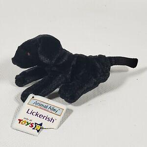VINTAGE McDonalds Toys R Us Animal Alley Lickerish Black Lab DOG With Tags